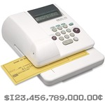 huge selection of max usa simple key memory electronic check writer - free   rapid delivery - sku: mxbec70