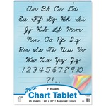 large variety of pacon cursive cover colored paper chart tablet - giant selection - sku: pac74731