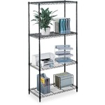 safco commercial wire shelving - sku: saf5241bl - delivery is free   fast