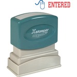 need some xstamper red blue entered title stamp  - great deals - sku: xst2027