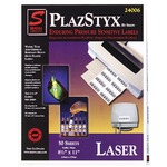 get sj paper plazstyx pressure sensitive laser labels - toll-free customer service team - sku: sjpsl81216