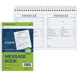 tops two part important message book - professional customer care - sku: top4007