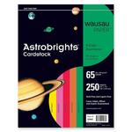 wausau astrobrights assorted 65lb card stock - large variety - sku: wau21003