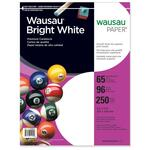 wausau bright white card stock paper - sku: wau91904 - shop here and save money