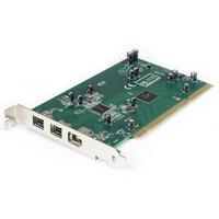 StarTech.com 3 Port 2b 1a PCI 1394b FireWire Adapter Card with DV Editing Kit - 2 x 9-pin Female IEEE 1394b FireWire 800