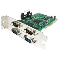 StarTech.com 4 Port PCI RS232 Serial Adapter Card with 16550 UART - 4 x 9-pin DB-9 Male RS-232 Serial PCI