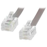 StarTech.com 25 ft RJ11 Telephone Modem Cable - 1 x RJ-11 Male - 1 x RJ-11 Male - Grey