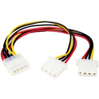 StarTech.com LP4 to 2x LP4 Power Y Splitter Cable M/F