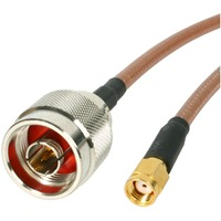 StarTech.com 1 ft N-Male to RP-SMA Wireless Antenna Adapter Cable - 1 x N-type - 1 x RP-SMA - Orange