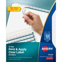 Avery Index Maker Clear Label Divider AVE11428