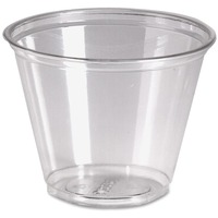 9 oz Cold Plastic Drink Cups in Clear Pack Size: 1000 (Carton) DXECP9ACT