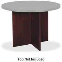 Basyx By HON Veneer Round Conference Table Top With X Base - Hon round conference table
