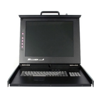 StarTech.com 1U 17 Rackmount LCD Console with 8 Port Multi-Platform KVM - 8 Computer(s) - 17 Active Matrix TFT LCD - 1U Height