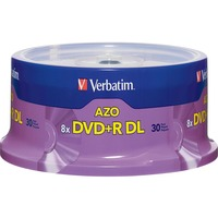 Verbatim DVD+R DL 8.5GB 8X with Branded Surface - 30pk Spindle Deal