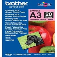 Brother Z-Perform BP71GA3 Photo Paper - A3 - 297 mm x 420 mm - Glossy - 20 x Sheet