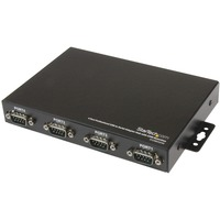 StarTech.com 4 Port Wall Mountable USB to Serial Adapter Hub with COM Retention - 1 x Type A Female USB 1.1 USB