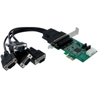 StarTech.com 4 Port Native PCI Express RS232 Serial Adapter Card with 16950 UART - PCI Express - 4 x DB-9 Male RS-232 Serial Via Cable - Plug-in Card