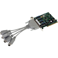 StarTech.com 4 Port PCI RS232 Serial Adapter Card High Speed 16950 cable included - 4 x DB-9 Male RS-232 Serial - Plug-in Card - DB-9 Male 8.3 Fan-out Cable