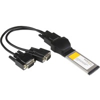 StarTech.com 2 Port Native ExpressCard RS232 Serial Adapter Card with 16950 UART - ExpressCard/34 - Plug-in Module Hot-pluggable