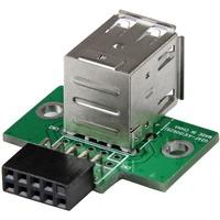 StarTech.com 2 Port USB Motherboard Header Adapter - 1 x IDC Female - 2 x Type A Female USB