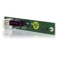StarTech.com Slimline SATA to SATA Adapter with SP4 Power - Screw Mount - 1 x Female SATA - 1 x Female SATA - Black