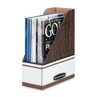 Bankers Box Magazine File - Woodgrain, 6 pack FEL72231