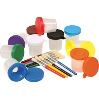 ChenilleKraft No-Spill Cups and Coordinating Brushes Pack CKC5104