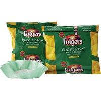 Folgers Coffee Filter Packs, Decaffeinated Classic Roast, 9/10oz, 40/Carton FOL06122