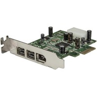 StarTech.com 3 Port 2b 1a Low Profile 1394 PCI Express FireWire Card Adapter - 2 x 9-pin Female IEEE 1394b FireWire 800
