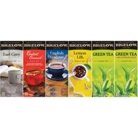 Bigelow Assorted Tea Packs, Six Flavors, 28/Box, 168/Carton BTC15577