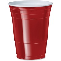 SOLO Cup Company Plastic Party Cold Cups, 16oz, Red, 50/Bag, 20 Bags/Carton SCCP16RLRCT