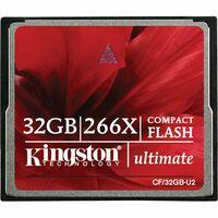 Kingston Ultimate CF/32GB-U2 32 GB CompactFlash - 1 Card - 266x Memory Speed