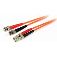 StarTech.com 1m Multimode 62.5/125 Duplex Fiber Patch Cable LC - ST - LC Male Network - ST Male Network - 1m - Orange