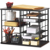 Rubbermaid 12-Slot Organizer, MDF, Desktop Sorter, 21 x 11 3/4 x 16, Black RUB1738583