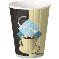 SOLO Cup Company Duo Shield Hot Insulated 12oz Paper Cups, Beige, 600/Carton SCCIC12