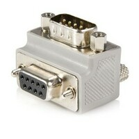 StarTech.com Right Angle DB9 to DB9 Serial Cable Adapter Type 1 - M/F - 1 x DB-9 Male Serial - 1 x DB-9 Female Serial