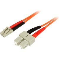 StarTech.com 3m Multimode 50/125 Duplex Fiber Patch Cable LC - SC - 2 x LC Male Network - 2 x SC Male Network - Orange