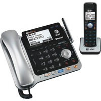 AT&T TL86109 DECT 6.0 2-Line Expandable Corded/Cordless Phone with Blu ATTTL86109