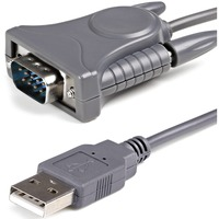 StarTech.com USB to RS232 DB9/DB25 Serial Adapter Cable - M/M - DB-9 Male Serial - Type A Male USB - 3ft - Gray