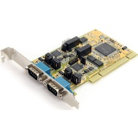 StarTech.com 2 Port RS232/422/485 PCI Serial Adapter w/ ESD - 2 x 9-pin DB-9 Male RS-232/422/485 Serial Universal PCI