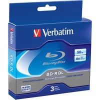Verbatim Blu-Ray BD-R Dual-Layer, 50 GB, 3/Pk VER97237