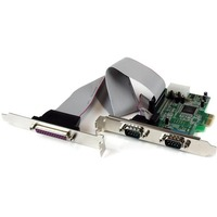 StarTech.com 2S1P Native PCI Express Parallel Serial Combo Card with 16550 UART - 2 x 9-pin DB-9 Male Parallel