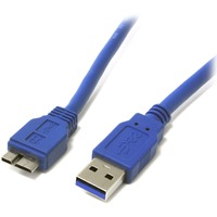 StarTech.com 3 ft SuperSpeed USB 3.0 Cable A to Micro B - Type A Male USB - Type B Male Micro USB - 3ft - Black