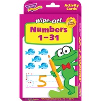 Trend Numbers 1-31 Wipe-off Activity Cards TEPT28102