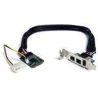 StarTech.com 3 Port 2b 1a 1394 Mini PCI Express FireWire Card Adapter - 1 x 6-pin Female IEEE 1394a FireWire External