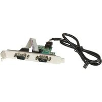 StarTech.com 24in Internal USB Motherboard Header to 2 Port Serial RS232 Adapter - DB-9 Male Serial - IDC Female Serial - 24