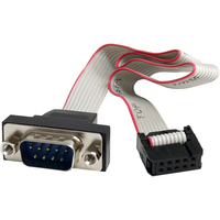 StarTech.com 16in 9 Pin Serial Male to 10 Pin Motherboard Header Panel Mount Cable - for Motherboard - 16 - 1 Pack - 1 x DB-9 Male Serial - 1 x IDC Female Serial - G
