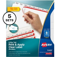 Avery Big Tab Index Maker Clear Label Dividers AVE11493