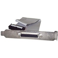 StarTech.com 16in DB25 Parallel Female to IDC 25 Pin Header Slot Plate - Parallel for Motherboard - 16 - 1 x DB-25 Female Parallel - 1 x IDC Female - Gray