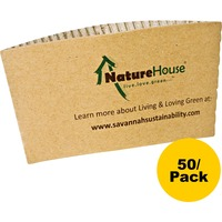 Naturehouse Hot Cup Sleeves, 50/Pack SVAS02